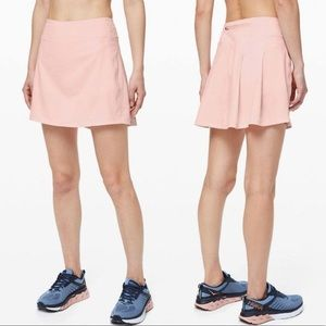 Lululemon Pace Rival Skirt Extra Long Pale Pink 2
